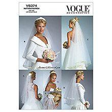 Buy Vogue Women's Bridal Veil Sewing Pattern, 8374 Online at johnlewis.com