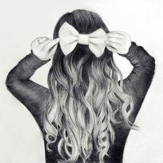 Wellenförmige Frisur-Ideen für schicke Damen - My Frisuren Wavy hairstyle ideas for chic ladies, is what can make you stand out. Long wavy hair can make you stand out. Tumblr Drawings, Girly Drawings, Love Drawings, Drawing Sketches, Art Drawings, Drawing Ideas, Pencil Drawings, Sketching, Cute Drawings Of Girls