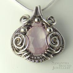 Rose Quartz and Sterling Silver | Flickr - Photo Sharing!Samantha Braund Jewellery