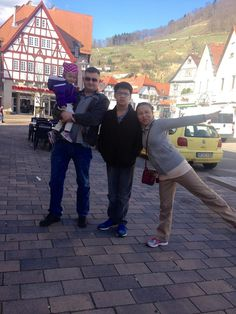 Great family pic in a sleepy little German town.