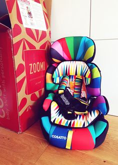 Cosatto Zoomi car seat review. (Hint - we absolutely LOVE it!)  http://www.poutinginheels.com/cosatto-zoomi-car-seat-review-go-brightly/  #cosatto #carseats #carseatforchildren #parenting #group2carseat #rainbow #rainbowdesign