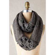 Anthropologie Crocheted Villarica Infinity Scarf (200 BRL) ❤ liked on Polyvore featuring accessories, scarves, grey, crochet infinity scarf, crochet shawl, infinity scarf, loop scarves and tube scarf