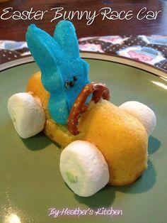 Easter Bunny Race Car http://www.freefuneaster.com/easter-recipes/easter-bunny-racecars/