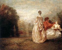 Two Cousins - Antoine Watteau