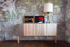 Credenza 3.5 - Essenza Legno  sideboard cabinet - natural design - interior design - black chestnut - oak - cherry wood - birch - modern furniture