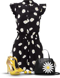 What Outfit To Wear With Pop Yellow Suede T-Bar Sandals LANA 120