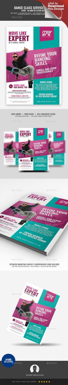 a4 flyer, advertisement, artist, body motion, body movement, Break Dance, cha cha, choreographer, dance, dance artist, dance lesson, dance school, dance studio, dancer, dancing, hip hop, move, movement, training, zumba Beauty Parlor and Spa Flyer Design Template   Boost your company's sales and attract new customers! This Dance Class and Studio Promotional Flyer Design Template have been developed to boost your Ultimate Marketing strategy and brand/product awareness, Perfect for large and…