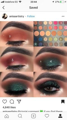 Eye Makeup Steps, Makeup Eye Looks, Smokey Eye Makeup, Cute Makeup, Skin Makeup, Make Up Designs, Makeup Pictorial, Eyeshadow Makeup Tutorial, Eye Makeup Designs