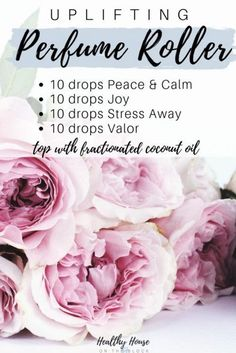 uplifting perfume roller with stess away, valor essential oil, peace and calm and joy essential oil blend Valor Essential Oil, Essential Oil Perfume, Essential Oil Diffuser Blends, Young Living Essential Oils, Diy Perfume Recipes, Homemade Perfume, Living Oils, Remedies, Stress