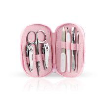 HOTER® 7 Pcs Vogue Nail Care Personal Manicure & Pedicure Set, Travel & Grooming Kit, Pink Case