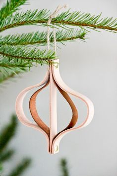 DIY Leather Christmas Ornament