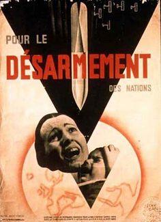 Annees 20 en France, Artist: Jean Carlu (1900-1997), engagé pour le désarmement 1932, photomontage