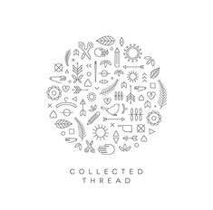 Collected Thread logo made up of simple icons.