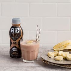It'll make your kids go bananas. Chocolate and banana combine with Darigold milk in this shake / smoothie for a tasty way for you both to get protein in the morning at breakfast. #mymorningprotein
