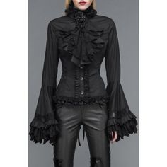 SHARE & Get it FREE | Jabot Flare Sleeve Lace Up BlouseFor Fashion Lovers only:80,000+ Items·FREE SHIPPING Join Dresslily: Get YOUR $50 NOW!