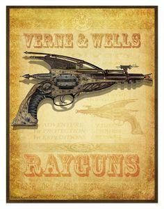 vintage steampunk posters -