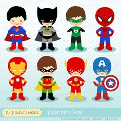 Superhero Clipart Superhero Digital Clipart by hjIllustrations, $5.00  https://www.etsy.com/listing/194238381/superhero-clipart-superhero-digital?ref=sr_gallery_41&ga_order=date_desc&ga_view_type=gallery&ga_ref=fp_recent_more&ga_page=78&ga_search_type=all