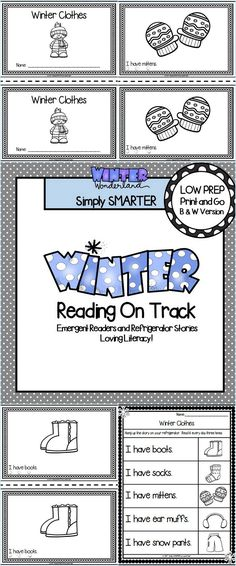 Are you looking for a LOW PREP reading activity for preschool or kindergarten? Then use these winter emergent readers and refrigerator stories for guided reading, shared reading, independent reading, or homework. You can choose from five different black and white emergent readers. The books contain repetitive sentences with tracking dots and picture support. Children will take home the coordinating refrigerator stories for repeated practice.   There are additional activities to increase…