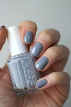 Essie Cocktail Bling - steel grey w/ blue tone polish / lacquer / vernis How To Do Nails, Love Nails, Pretty Nails, Fun Nails, Pretty Nail Colors, Fall Nail Colors, Nuetral Nail Colors, Nail Polish Colors, Nail Polishes