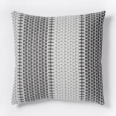 Organic Block Stripe Jacquard Duvet Cover + Shams - Black/White