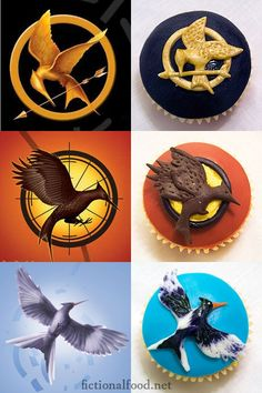 Hunger Games series cupcakes :) stuff-to-try