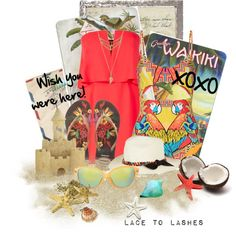 Wish You Were Here by lacetolashes on Polyvore featuring BCBGMAXAZRIA, Mara Hoffman, Havaianas, Sensi Studio, Natural Curiosities, summer2015, cutoutswimsuit and lacetolashes