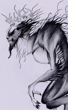 The Wendigo, takes over people's body's if they become to greedy