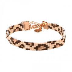 Mint15 beads armbandje met Miyuki kraaltjes in luipaard print