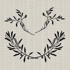 Olive Branch Wreath and Tree Branches by katyshoestring on Etsy #olivebranchwreath #printables #imagetransfer