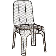STEEL WIRE CHAIR -  with the black and white marble table on our patio!
