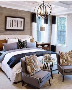 Transitional Bedroom Ideas - We have included so many bedroom layouts already and for certain, you still such as to see even more because we never obtain enough of bedroom interior decoration ideas that . Master Bedroom Interior, Farmhouse Master Bedroom, Home Decor Bedroom, Modern Bedroom, Bedroom Ideas, Bedroom Designs, Master Bedrooms, Master Bedroom Furniture Ideas, Trendy Bedroom
