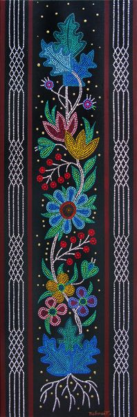 This is the art of Christi Belcourt - Beadwork Indian Beadwork, Native Beadwork, Native American Beadwork, Native American Art, Beadwork Native Americans, Dot Art Painting, Mandala Painting, Loom Beading, Beading Patterns