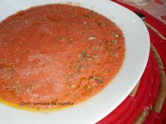 Cinco sentidos na cozinha: Gaspacho Andaluz