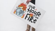 Our house is on fire – Klimastreik Plakat zum selberdrucken - Sketchnote Love Ipad Pro, Workshop, Sketch Notes, Tricks, Company Logo, House, Fire, Inspiration, Cards