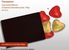 ¡Ofrece una hermosa corazones de chocolate para alguien especial!