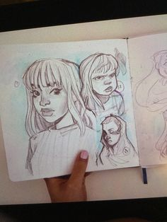 Girl Drawing Sketches, Girl Sketch, Pencil Art Drawings, Cute Drawings, Drawing Reference Poses, Art Reference, Kawaii Sweater, Character Art, Character Design