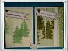 Weihnachtsbäume von Stampinup mal anders & mit Washi Tape.