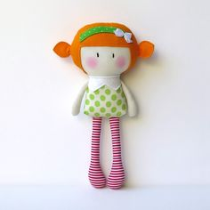 """My Teeny-Tiny Dolls® are 11"""" Handmade Fashion Dolls. Made from cotton and wool felt fabrics, filled with polyfil for softness © Cook You Some Noodles 2014. All Rights Reserved"""