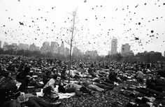 "Garry Winogrand  Peace Demonstration in Central Park, 1970  gelatin silver print  14"" x 17"""