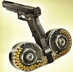 Ridiculously unnecessary pistol drum magazine