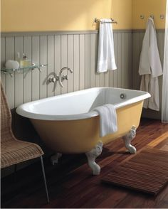 Cast Iron Clawfoots, Like This Retro Tub From Herbeau Are Not Only More Traditional, But Can Be Painted To Match Your Bathroom