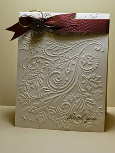 Stamping and Scrapping: Thank You-I have that Darice embossing folder: