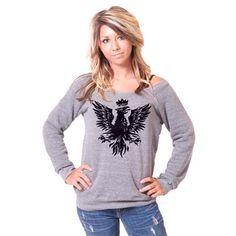 Phoenix Bella Slouchy Wideneck Sweater. $38.00, via Etsy.
