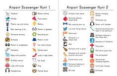 Airport Scavenger Hunt