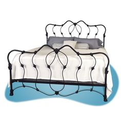 Midcentury Iron Bed - Brass Beds of Virginia