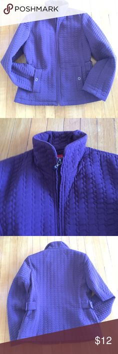 Purple jacket This jacket is warm and comfortable - no bulk just a nice fit. Jackets & Coats
