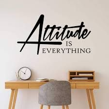 Attitude is Everything - God's Message Today Office Wall Design, Office Wall Decals, Office Walls, Home Office Decor, Office Fun, Office Inspo, Office Furniture, Inspirational Wall Quotes, Vinyl Wall Quotes