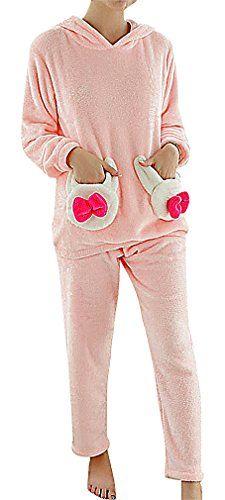 83efd15bcb08c USR Womens Playful Animal Appliques Fleece Maternity Long Sleeve Pajama Set  1 S ManufacturerM **