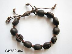 polymer clay bracelet coffee beans Fimo jewelry gifts door Simo4ka