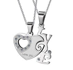 d8b42f6774 Couple Necklaces, Matching Necklaces, Matching Couples, Love Heart, Necklace  Set